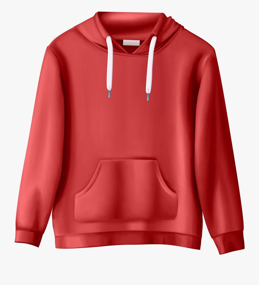 Red Sweatshirt Png Clip Art - Transparent Background Clothing Png, Transparent Clipart
