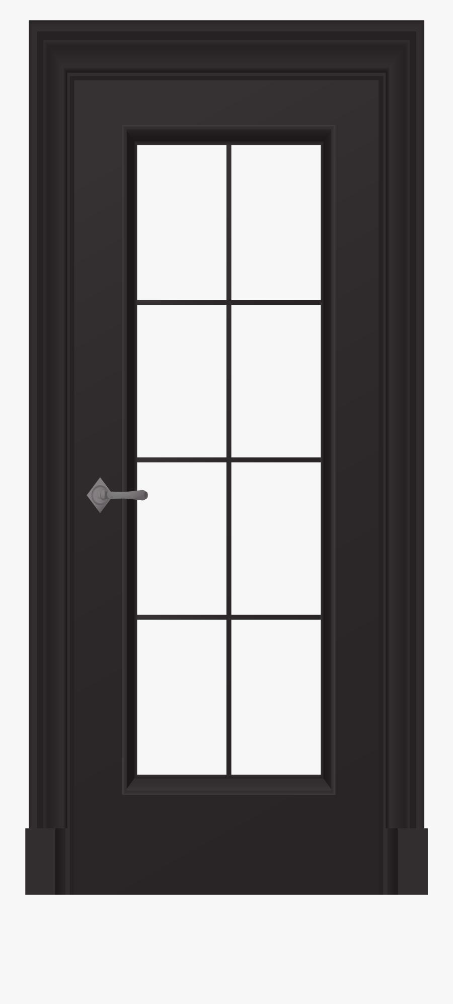 Black Door Png Clip Art - Door And Window Clip, Transparent Clipart