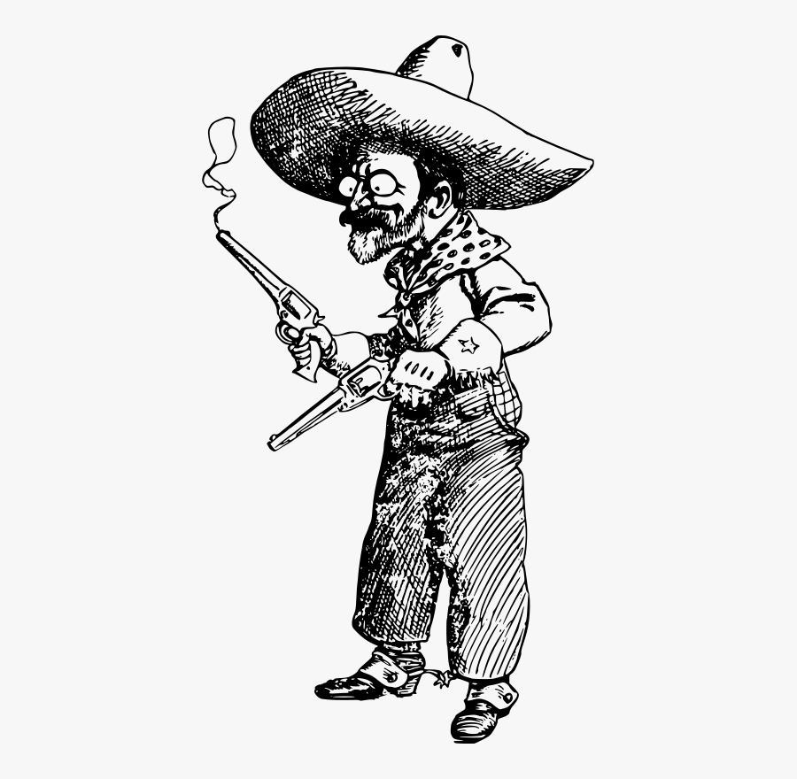Crazy Cowboy Old Man, Transparent Clipart