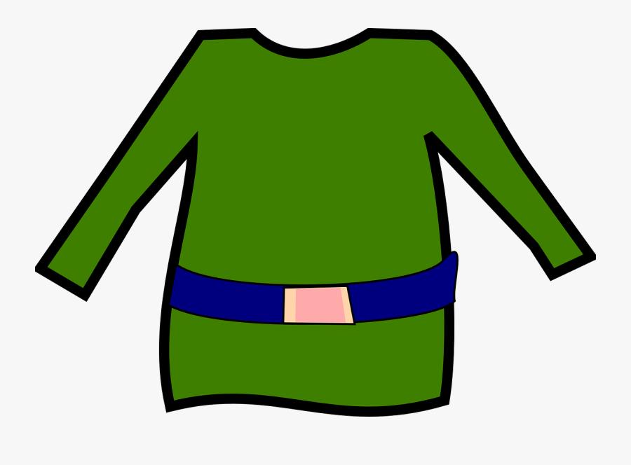 Transparent Shirt Outline Png - Christmas Elf Clothes Clipart, Transparent Clipart