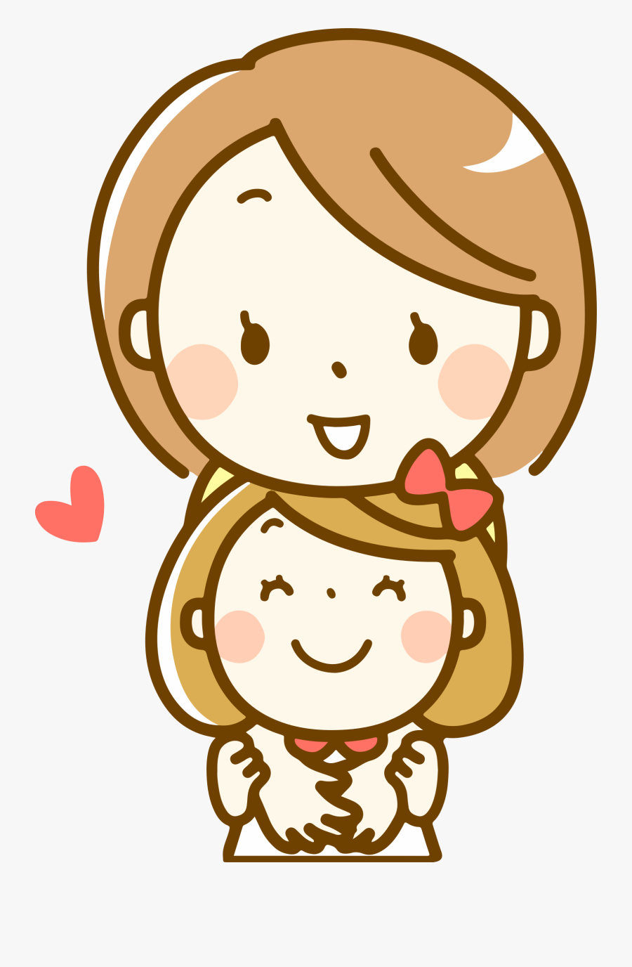 Mother And Daughter - Mother Daughter Images Clip Art, Transparent Clipart