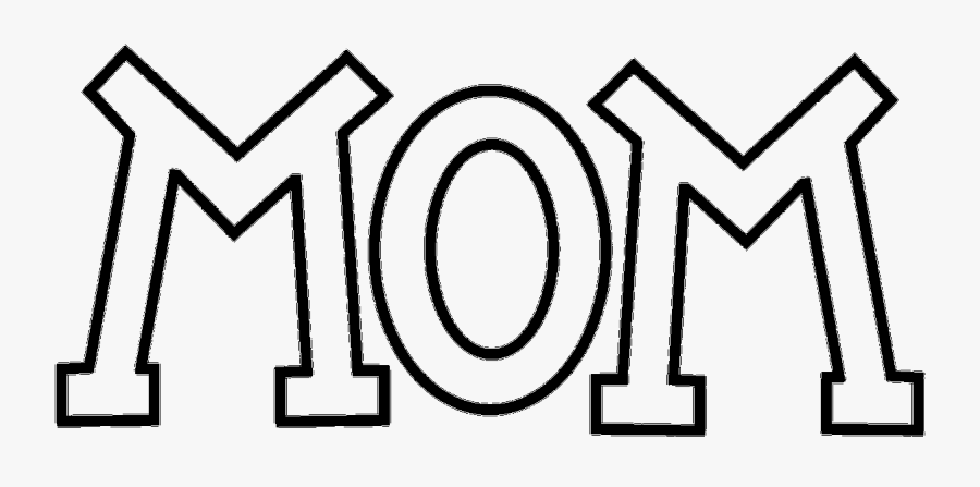 Thumb Image - Mom Outline, Transparent Clipart