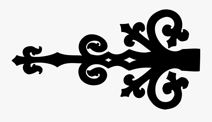 Ornate Door Hinge - Door Hinges Clipart, Transparent Clipart