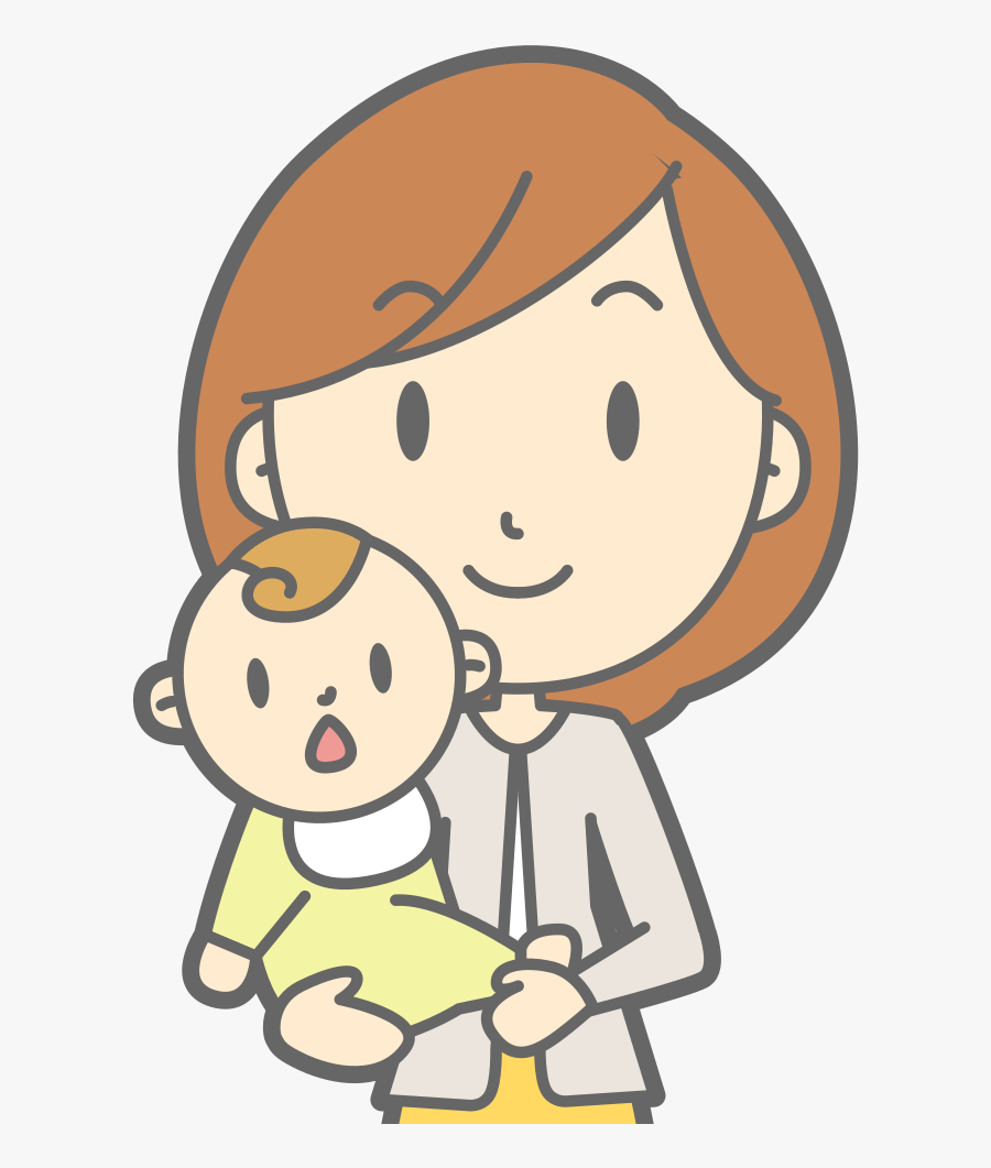 Mother And Baby Mom And Baby Vector Free Transparent Clipart Clipartkey