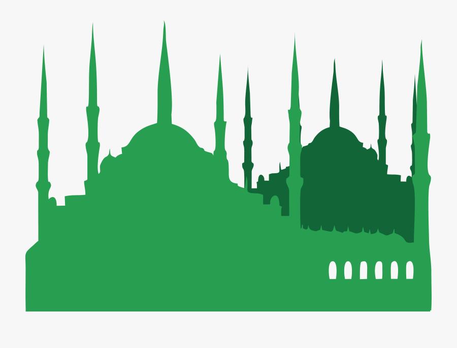 Turkey Mosque Illustration Islamic Green Church Islam - Mosque Background Green Islamic, Transparent Clipart