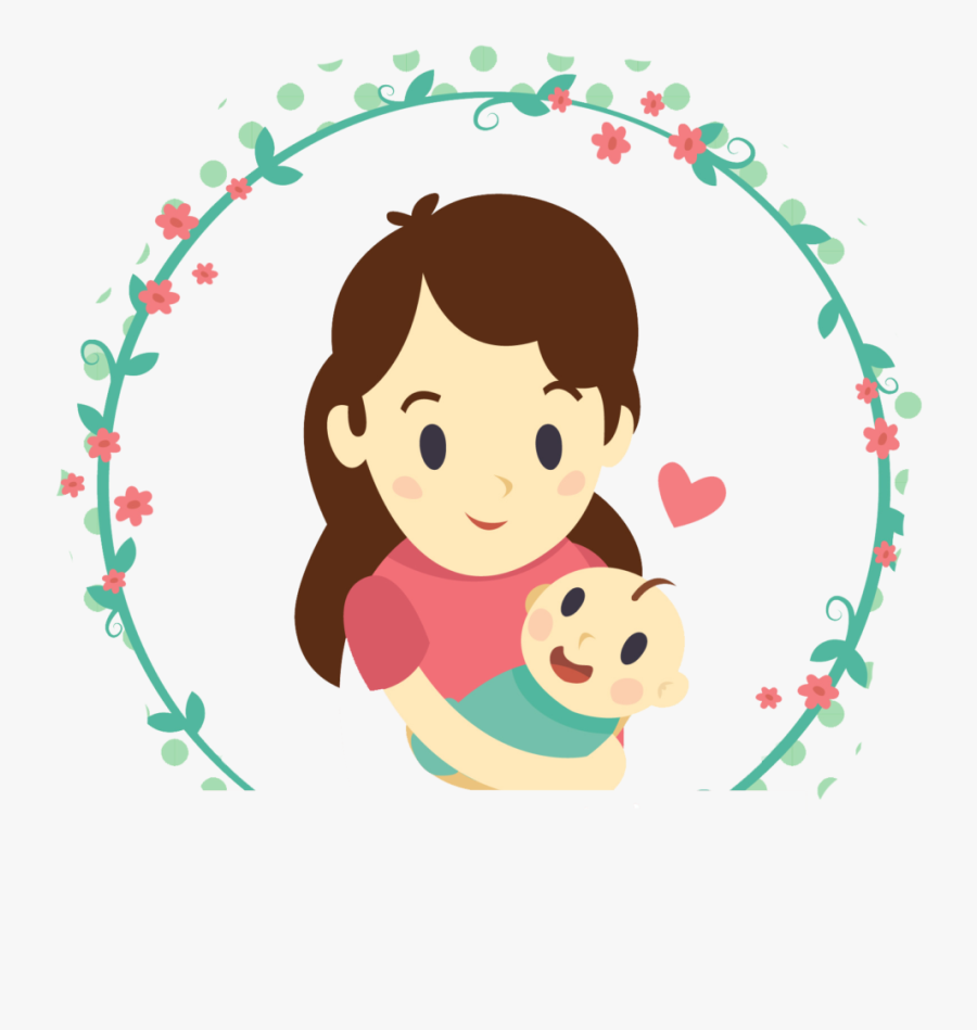 Download Mother And Daughter Free Png And Psd Drawing Cartoon Mother And Baby Free Transparent Clipart Clipartkey