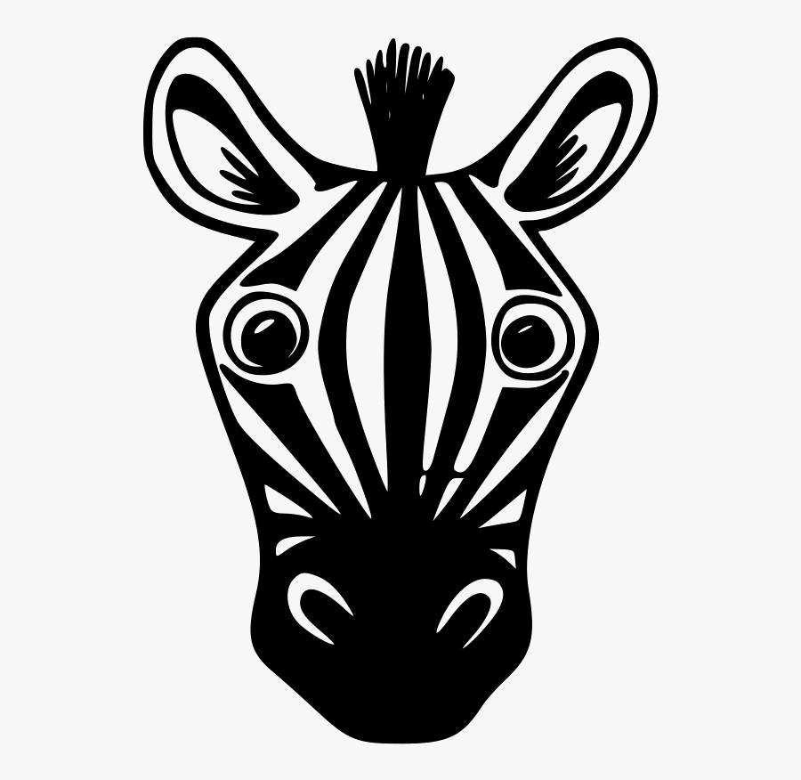 How To Draw A Zebra Face Step By Step Choice Image - Zebra Face Drawing Easy, Transparent Clipart