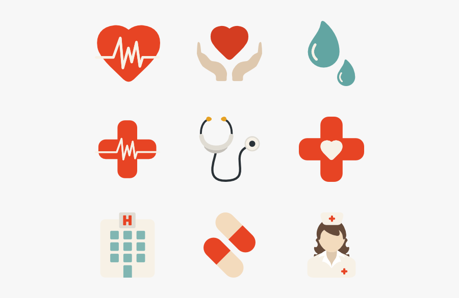 Clip Art Free Icon Download Set - Medical Icon Vector Png, Transparent Clipart
