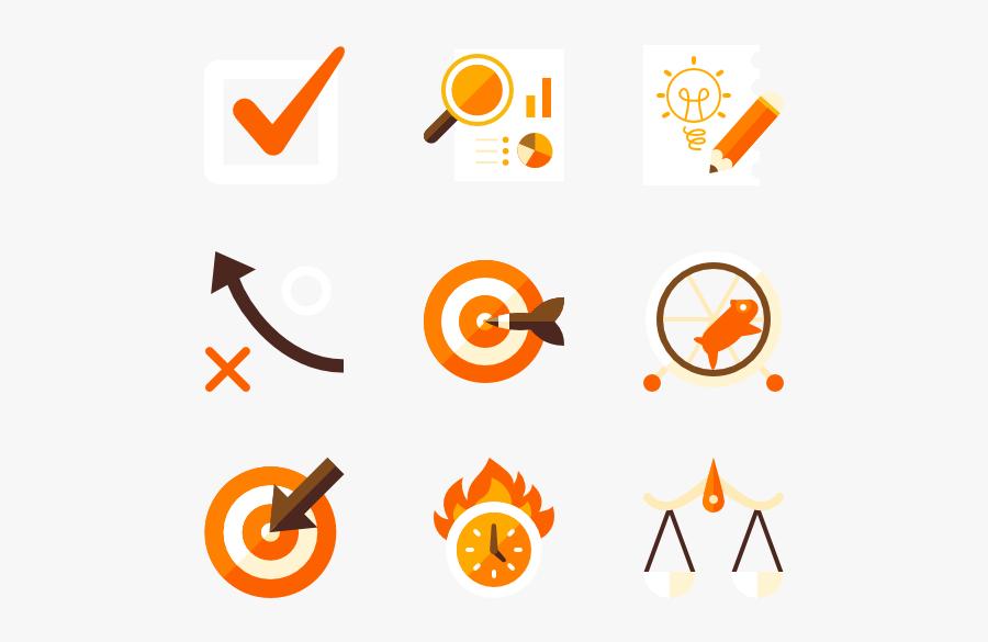 Strategy - Icons Orange, Transparent Clipart
