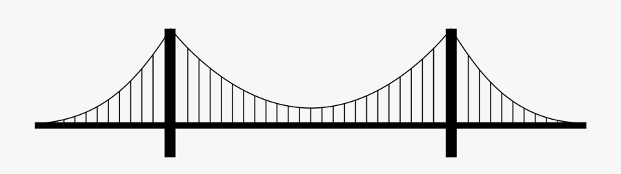 Vector Free Library Collection Of Free Bridging - Suspension Bridge Png, Transparent Clipart