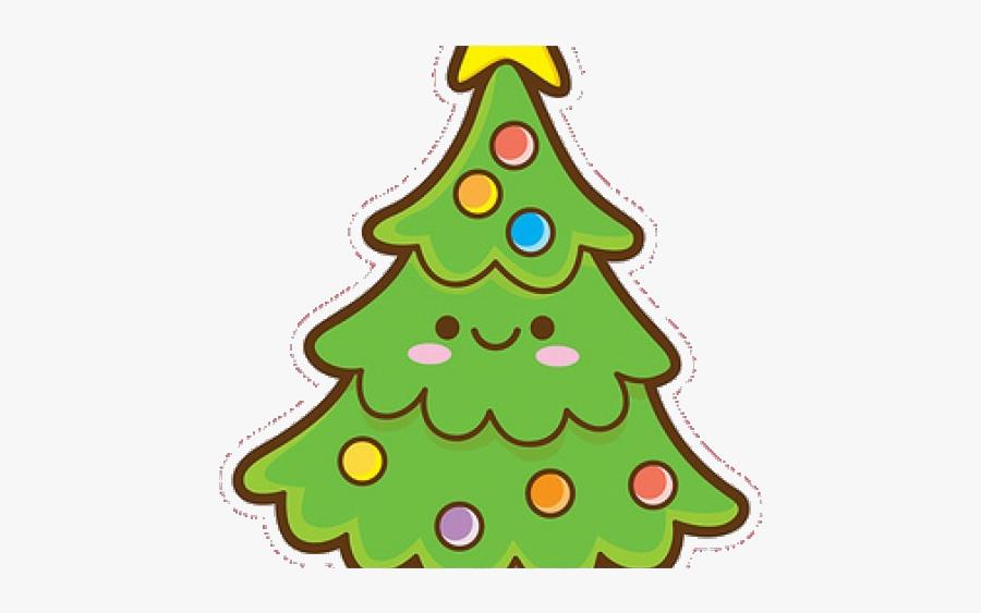 Ornament Christmas Clipart Kawaii Easy Cute Tree Transparent - Kawaii Tree Clip Art, Transparent Clipart