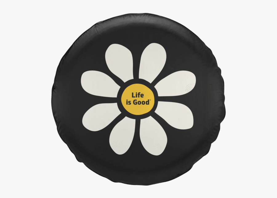Life Is Good Daisy Tire Cover, Transparent Clipart