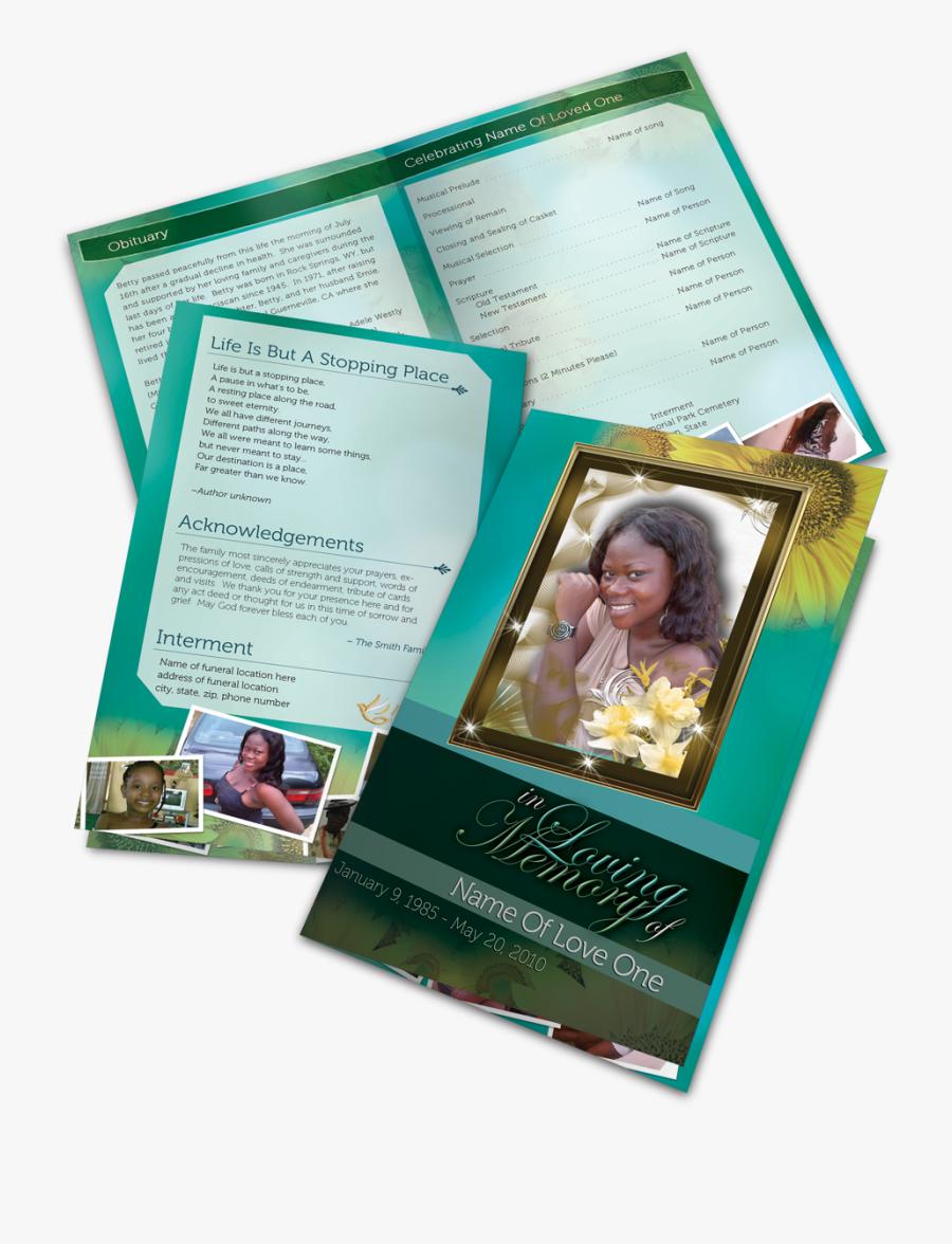 Clip Art Funeral Program Images - Flyer, Transparent Clipart