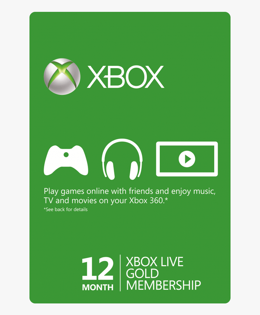 Xbox Gift Card Png - 1 Month Xbox Card, Transparent Clipart
