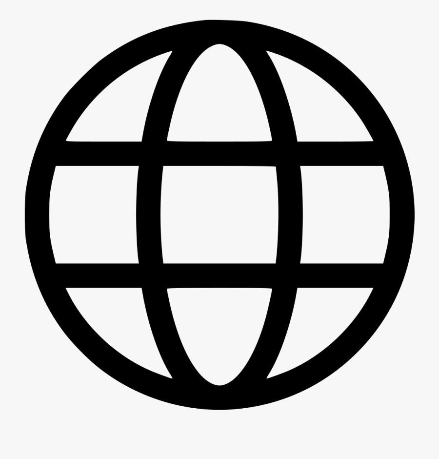 Earth World Wide Web Circle Connect Round - Globe Vector Icon, Transparent Clipart