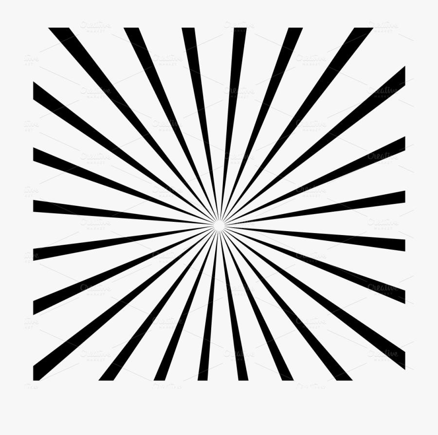 Transparent Sun Burst Png - Free Black And White Sunburst, Transparent Clipart