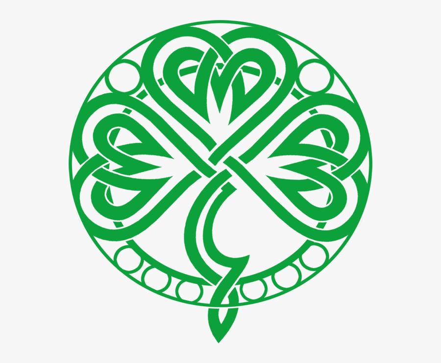 Transparent Celtic Knot Circle Png - Tribal Clover, Transparent Clipart