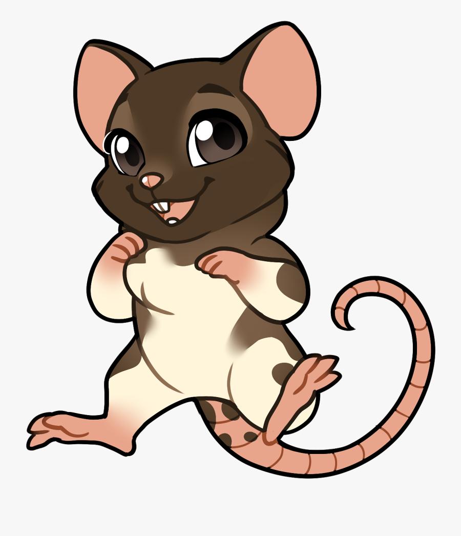Chibi Sticker Furvilla - Furvilla Chibi Rat, Transparent Clipart