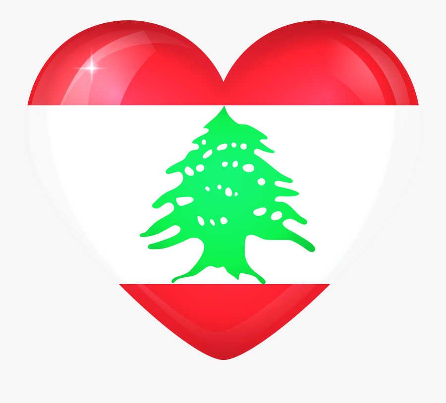 Lebanon Flag Heart Clipart , Png Download - Lebanon Flag, Transparent Clipart