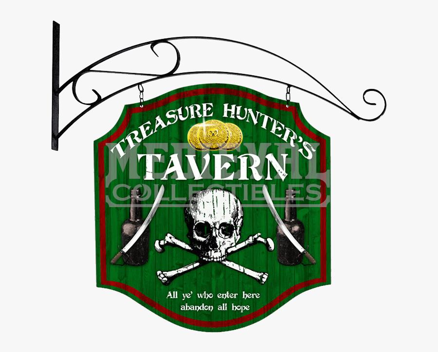 Clip Art Double Sided Treasure Hunter - Skull And Bones, Transparent Clipart