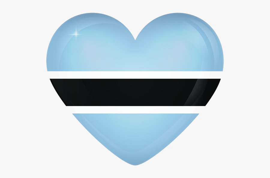 Heart, Png Turquoise - Botswana Flag Heart Png, Transparent Clipart