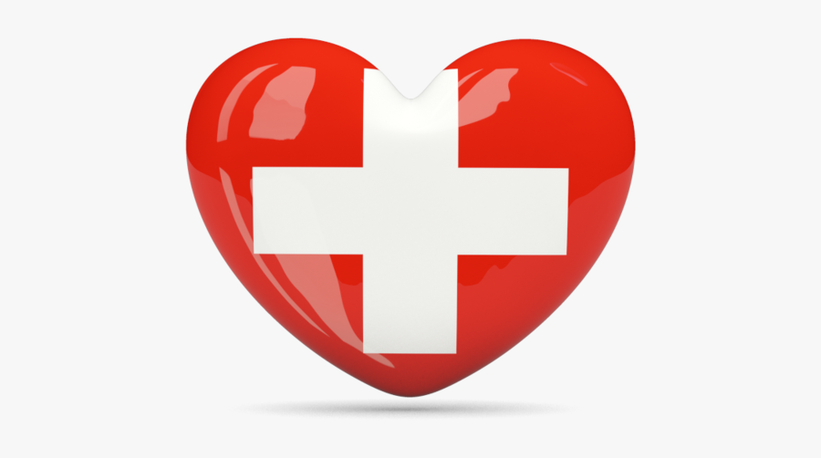 Switzerland Flag Heart Icon - Portugal Flag Heart Png, Transparent Clipart