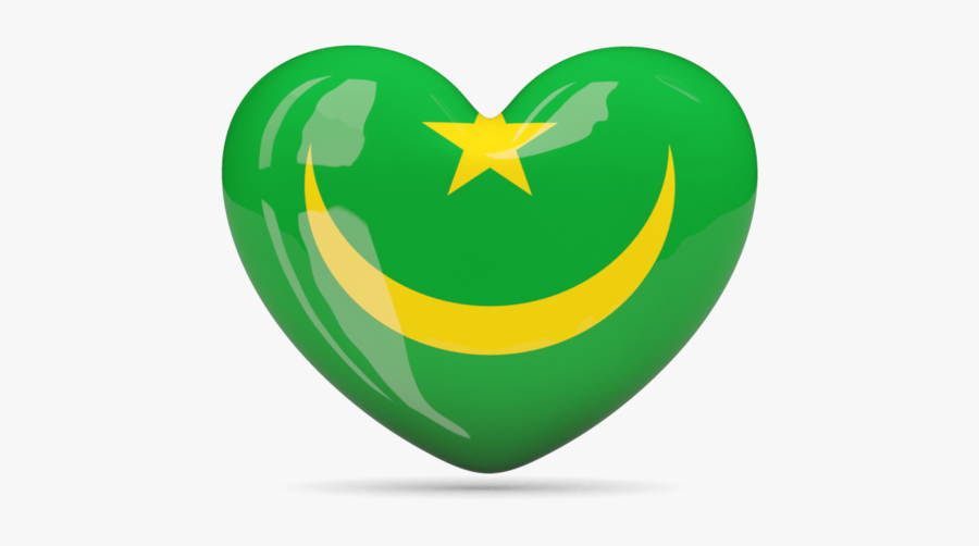 Download Flag Icon Of Mauritania At Png Format - Morocco Flag Heart Png, Transparent Clipart