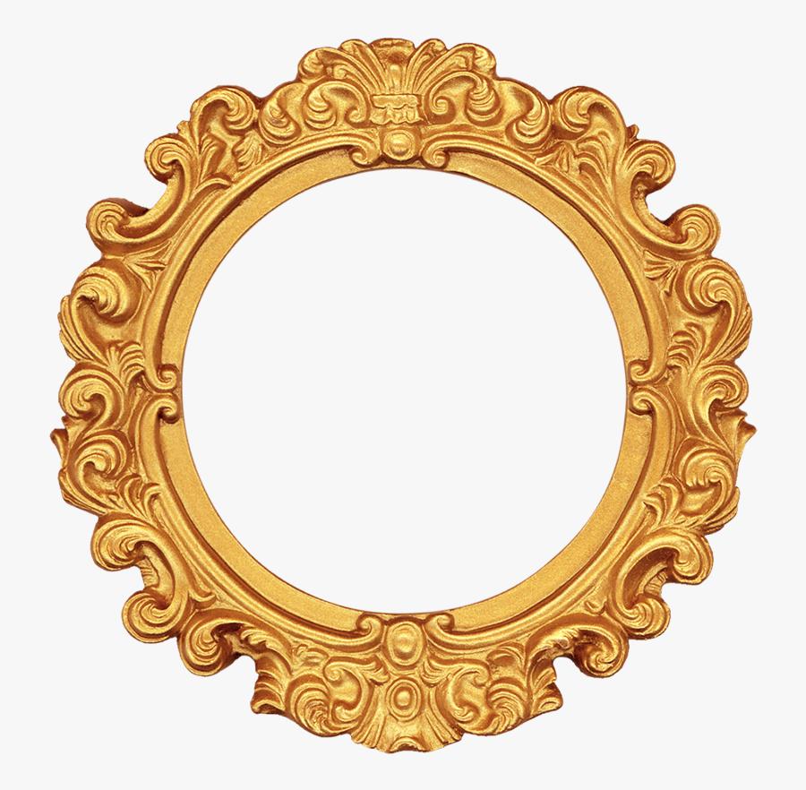 Transparent Gold Oval Frame Png - Round Photo Frame Png, Transparent Clipart