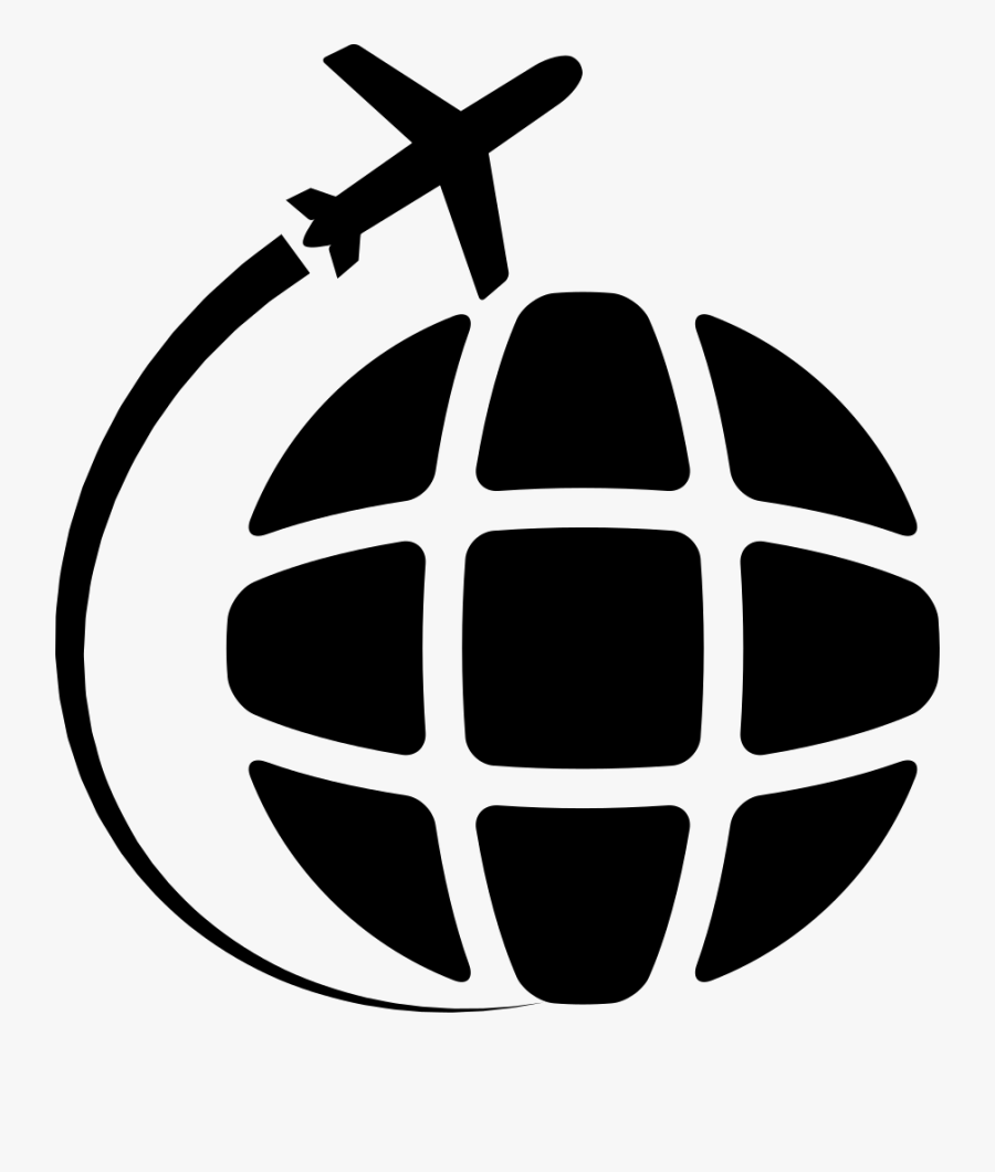 Airplane Travel Around The World Comments - Around The World Icon Png, Transparent Clipart