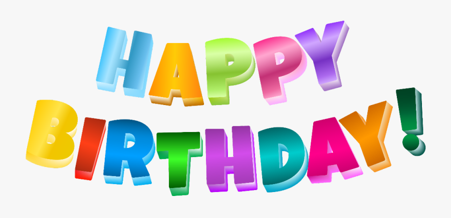 #happybirthday #colorful #glitter #blingbling #3d #bestwish - Happy Birthday Clipart Transparent Background, Transparent Clipart