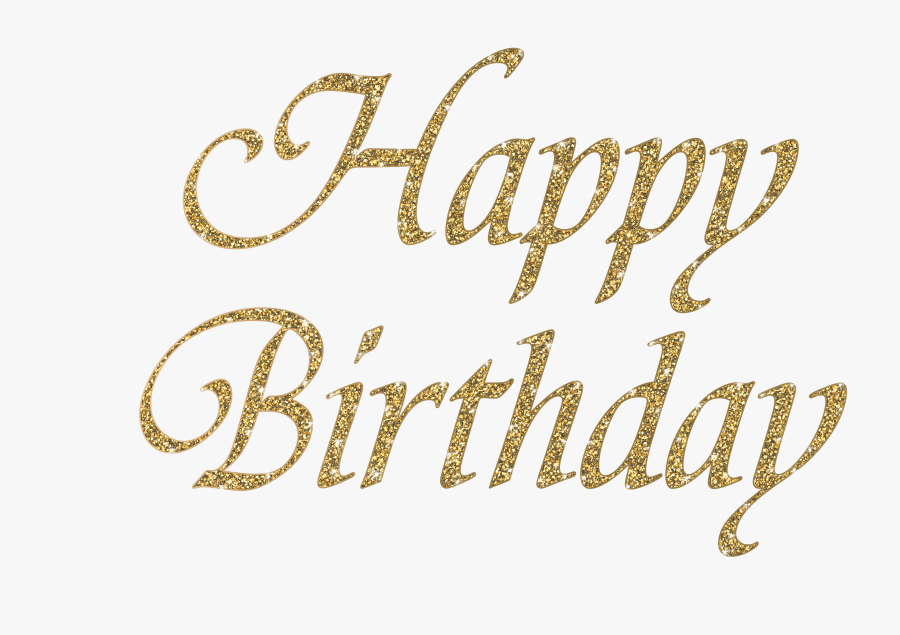 Png Images Birthday Id 33402 Calligraphy - Transparent Happy Birthday Gold Png, Transparent Clipart