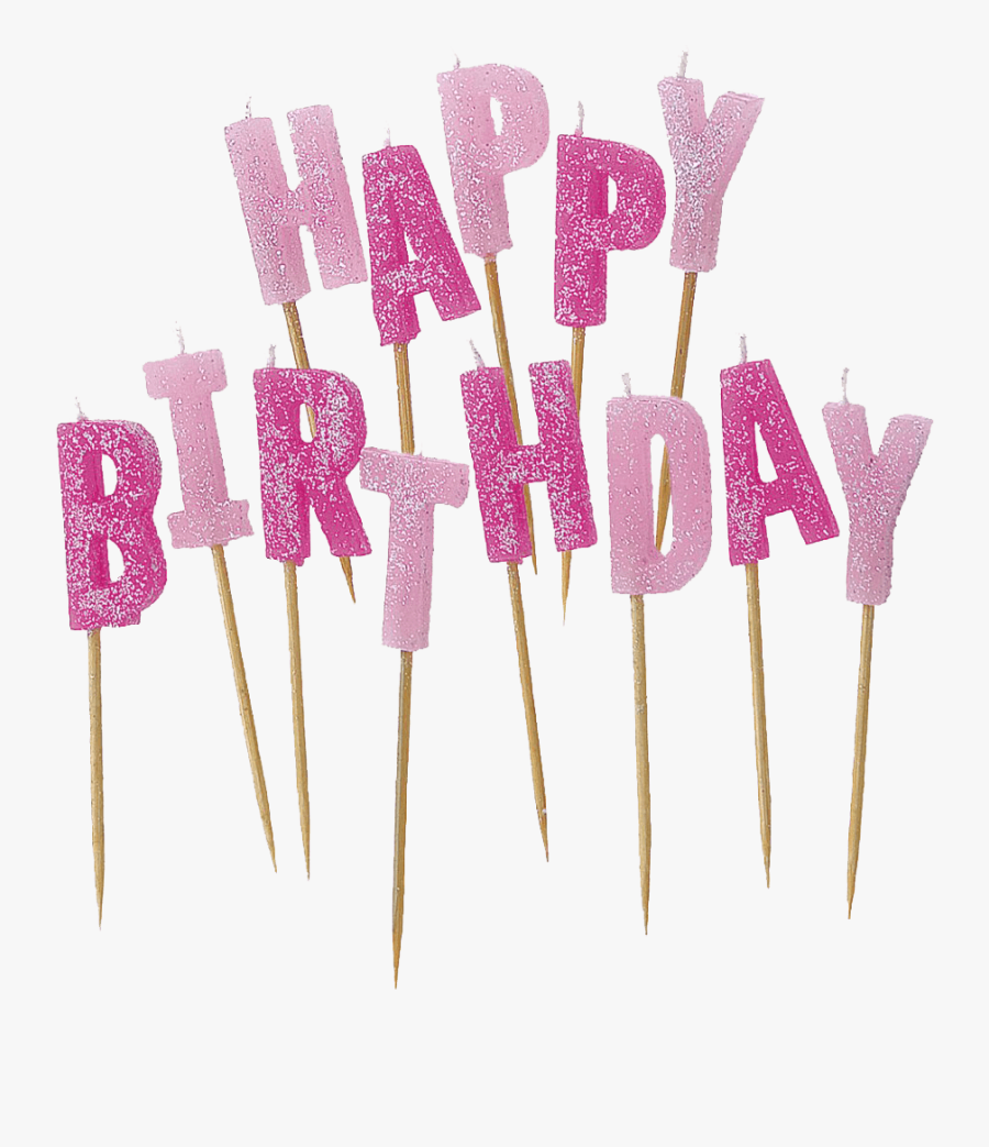 Happy Birthday Candles Transparent Background, Transparent Clipart