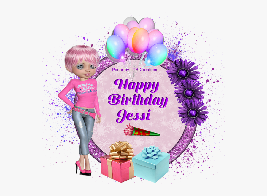 Glitter Text » Personal » Happy Birthday - Happy Birthday Jessi, Transparent Clipart
