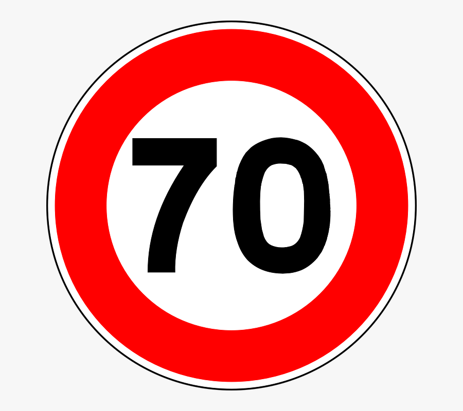 Speed Limit Road Sign - Speed Limit Sign Png, Transparent Clipart