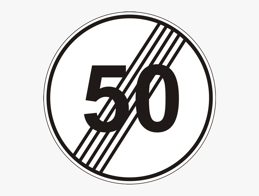 French National Speed Limit Sign Clipart , Png Download - French National Speed Limit Sign, Transparent Clipart