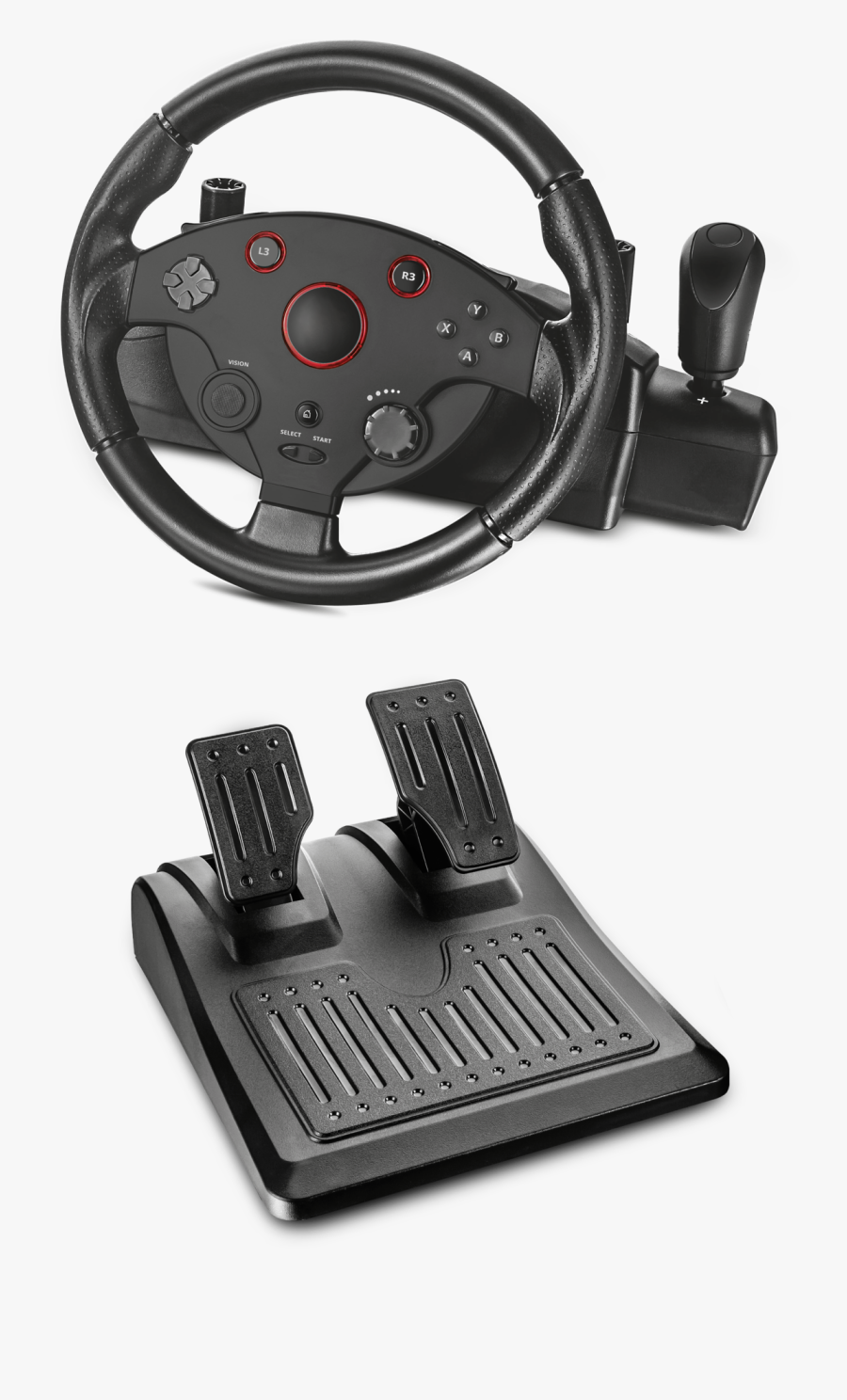 Transparent Hands On Steering Wheel Clipart - Trust Gxt 288 Racing Wheel, Transparent Clipart