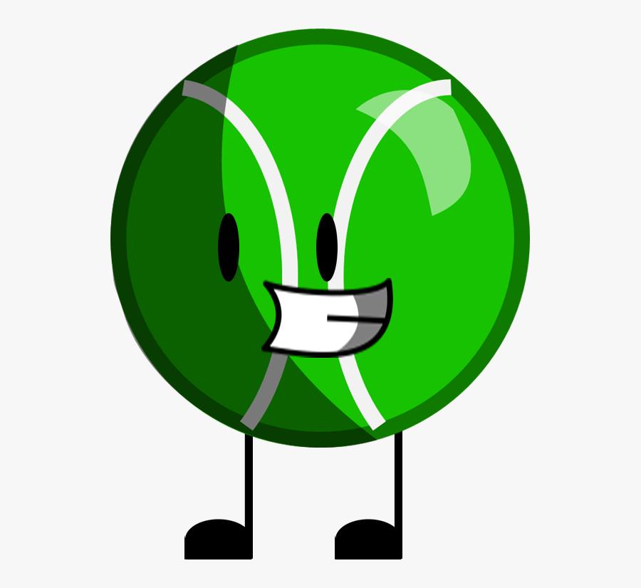 Animatorofawesomenes 2 0 Battle For Dream Island - Bfdi Green Tennis Ball, Transparent Clipart