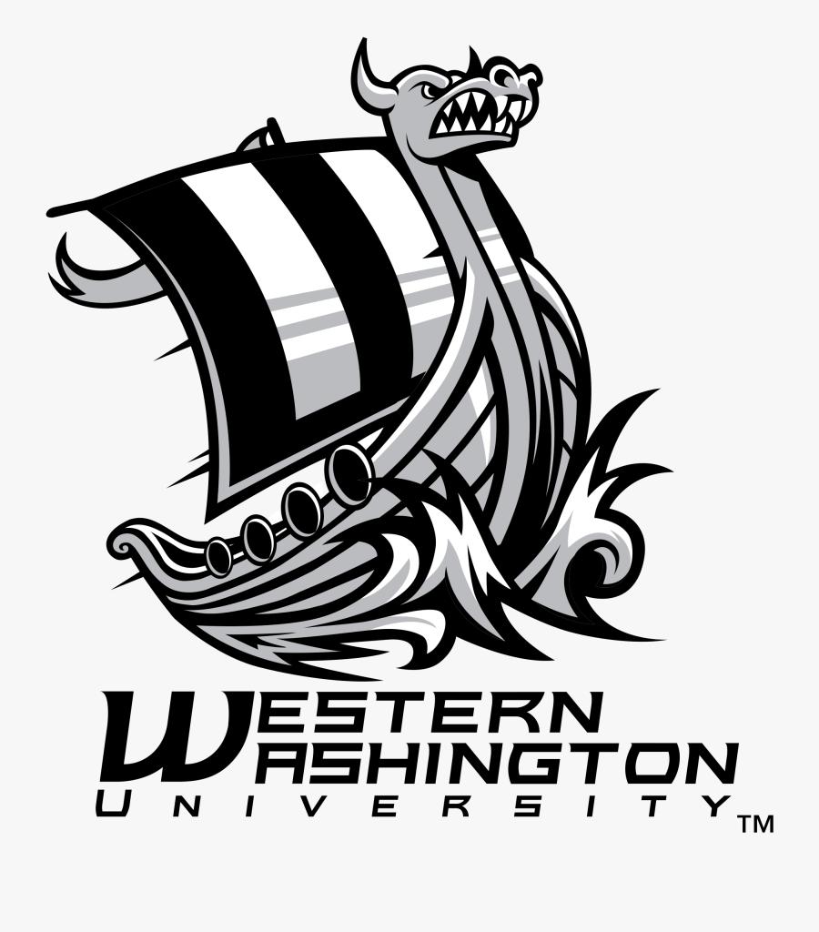 Vikings Svg Carving - Western Washington University Viking Logo, Transparent Clipart