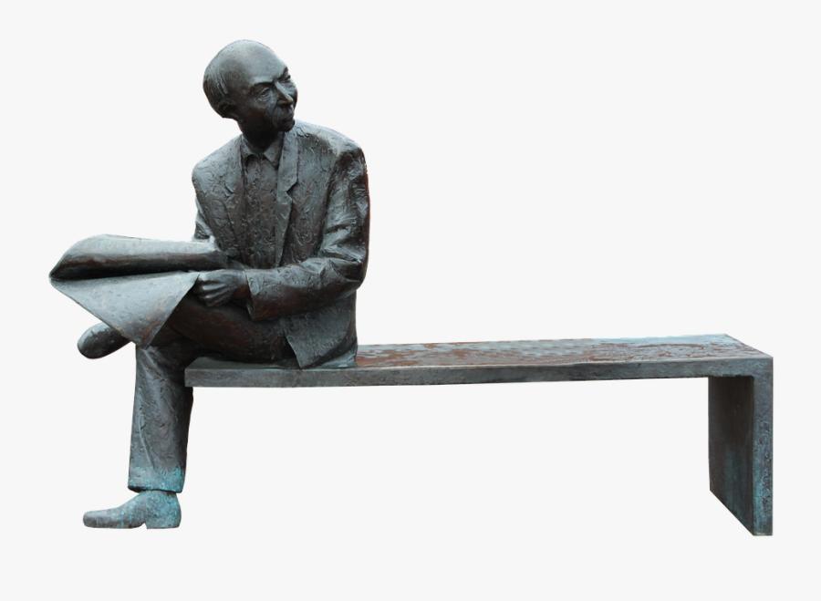 Man Sculpture Art Statue Figure Artwork Male - Outdoor Sculpture Png, Transparent Clipart