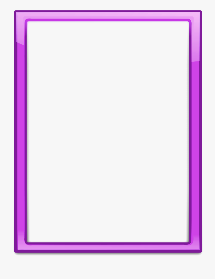 Purple Frame Png Download Image Arts In Picture Decor, Transparent Clipart