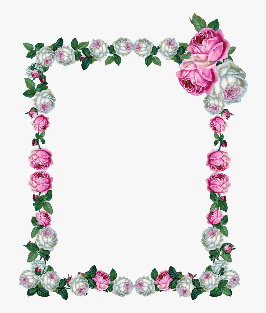 Free Digital Vintage Rose Frame Png Clipart , Png Download - Clipart Vintage Rose Frame, Transparent Clipart