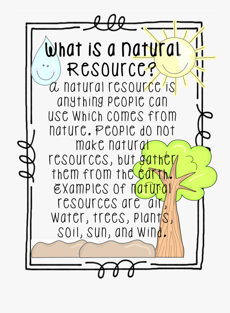 Natural Resources First Grade, Transparent Clipart