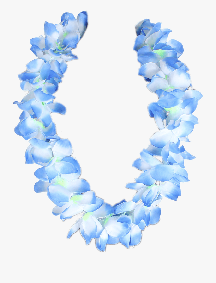 Blue Hawaiian Flower Necklace - Hawaiian Flower Necklace Png, Transparent Clipart