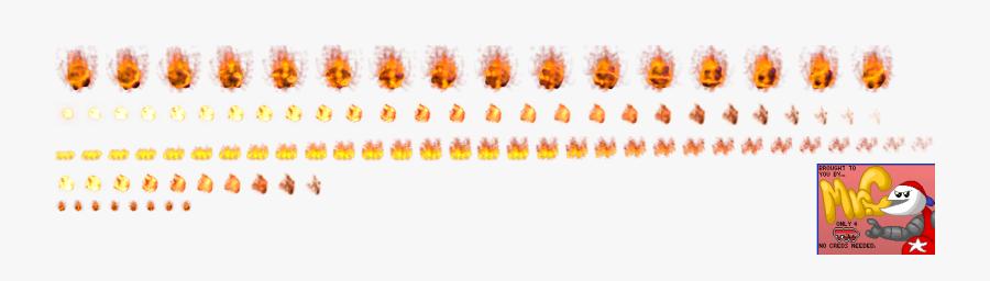 Fireball Sprite Png - Mario Fireball Sprite Sheet, Transparent Clipart