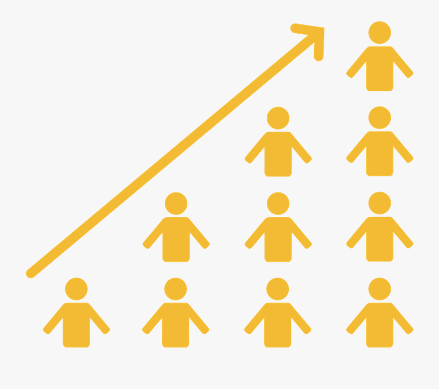 Shoeboxed Graph Increase - People Increasing Graph, Transparent Clipart