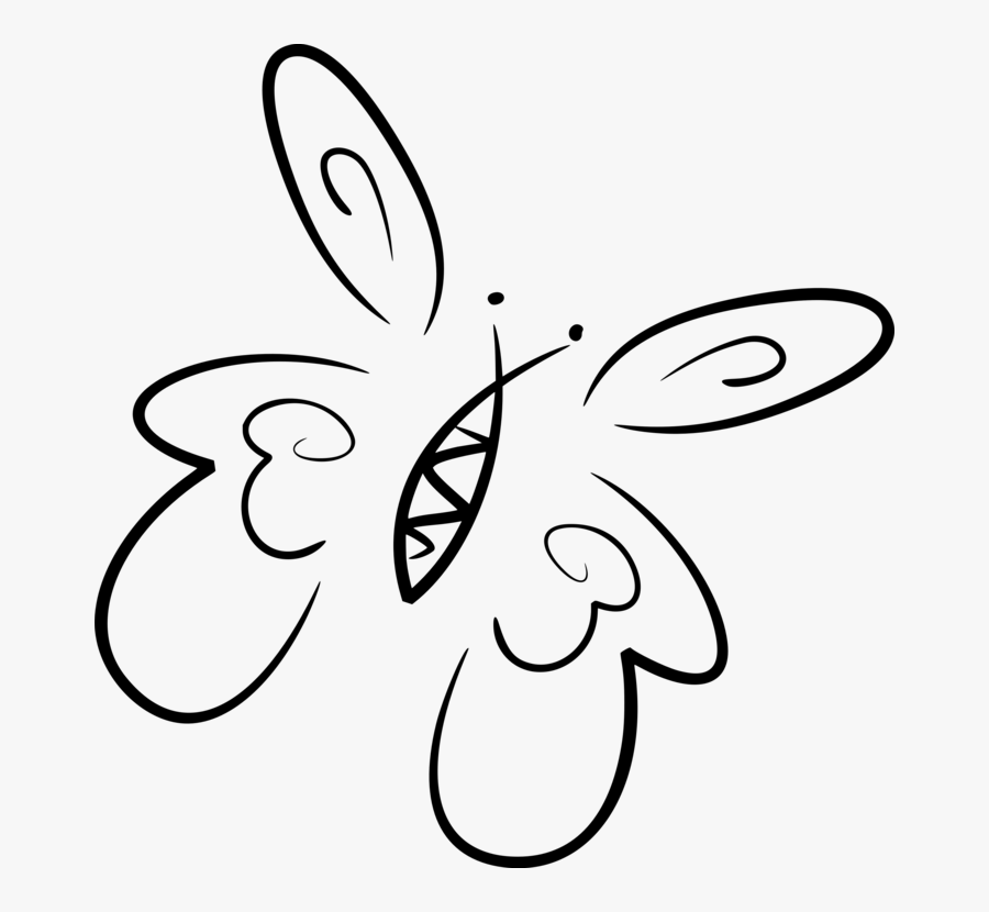 Art,symmetry,monochrome Photography - Stylised Butterfly, Transparent Clipart