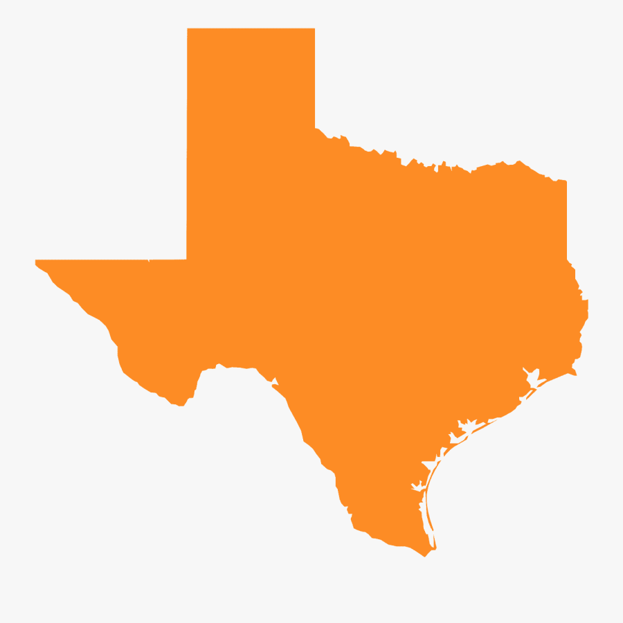 Texas Map Silhouette, Transparent Clipart