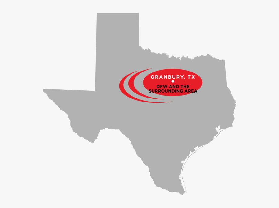 Texas Map, Transparent Clipart