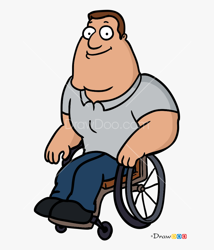 How To Draw Joe Swanson, Family Guy - Someone In A Wheelchair, Transparent Clipart