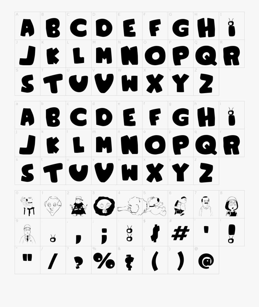 Clip Art Family Guy Font - Family Guy Style Font, Transparent Clipart